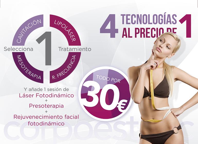 4 tecnologías x 1_Corpoestetic